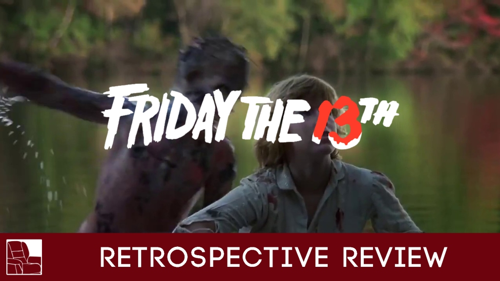 Title card for a film review on Friday the 13th
